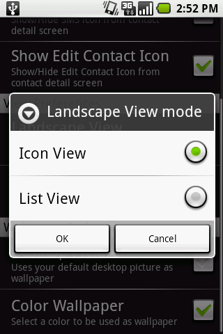 ListViewIconView Option